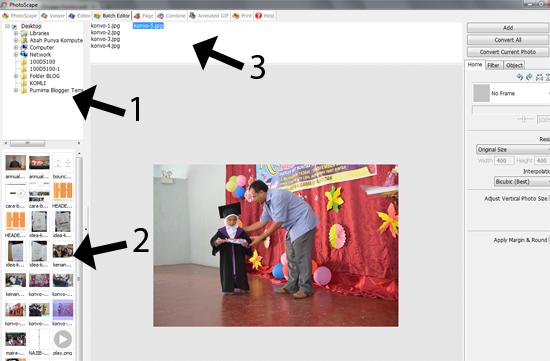Panduan Blogger - Cara Letakkan Watermark Guna PhotoScape