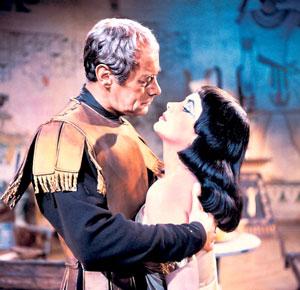 Rex Harrison y Elizabeth Taylor en Cleopatra
