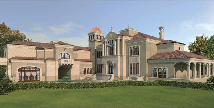 Mansions more european mansion design with floor plans for Mansion designer