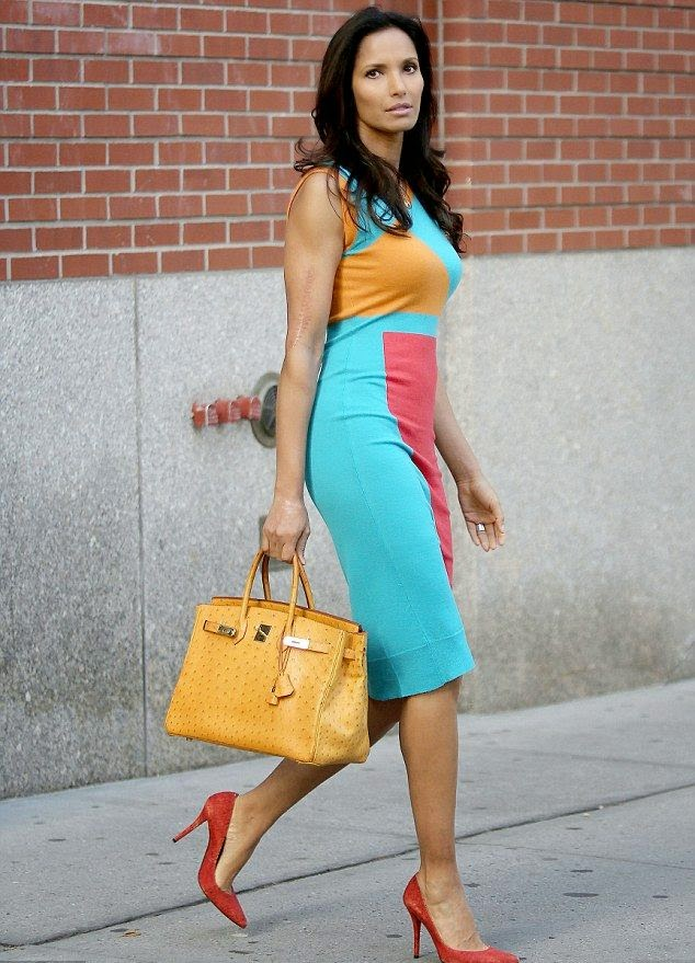 Awww! We love seeing Padma Lakshmi out and about, especially if she was scheduled to buying a lovely garment. The top chef looked sleek in a green sleek knee-dress as she waved to the photographer cameras while leaving her apartment at New York, USA on Monday, October 20, 2014.