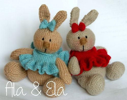 Knitted Toys Baby Bunny