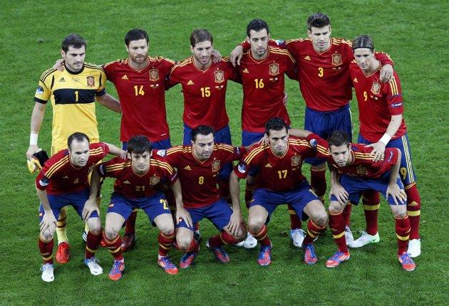 Pemain Timnas Spanyol Euro 2012