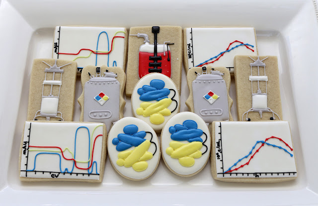 science cookies, chromatography cookies, biotech cookies
