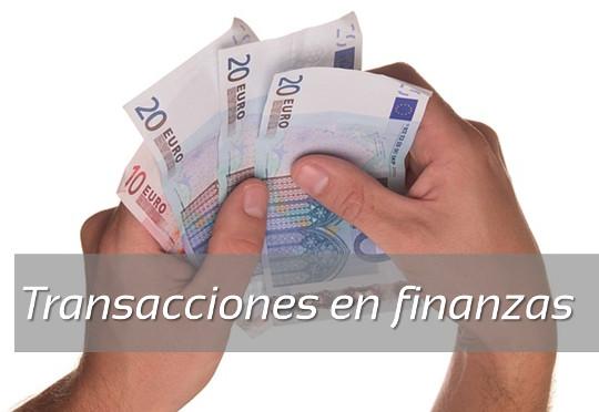 transacciones finanzas