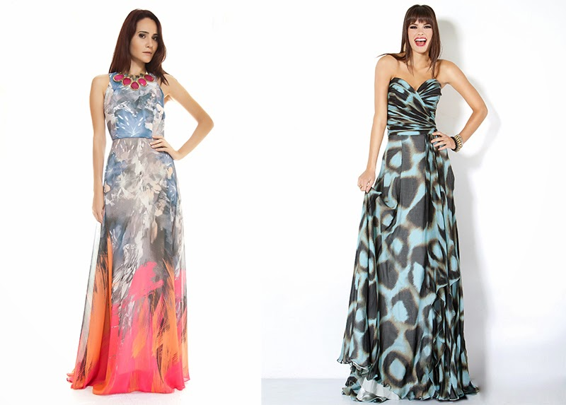 vestidos de festa longos estampados - modelos e fotos