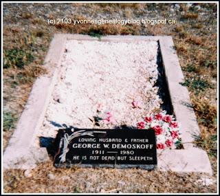George Demoskoff gravemarker