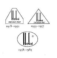 The three Hobe signatures shown here can be dated accurately, as shown below each stamp. The stamps themselves are soldered onto the backs of the jewels.