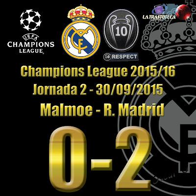 Malmoe 0-2 Real Madrid. Champions League. Jornada 2 (30/09/2014)