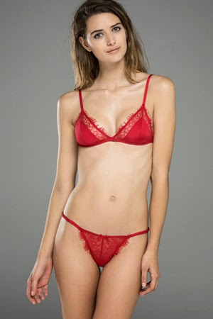 Women'secret conjunto lencería rojo