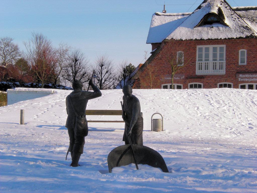 Winterlandschaft St. peter-Ording mit Jan und Gret