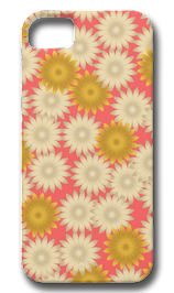 Yellow White Daisies Pink iPhone Case iPhone 5 Case