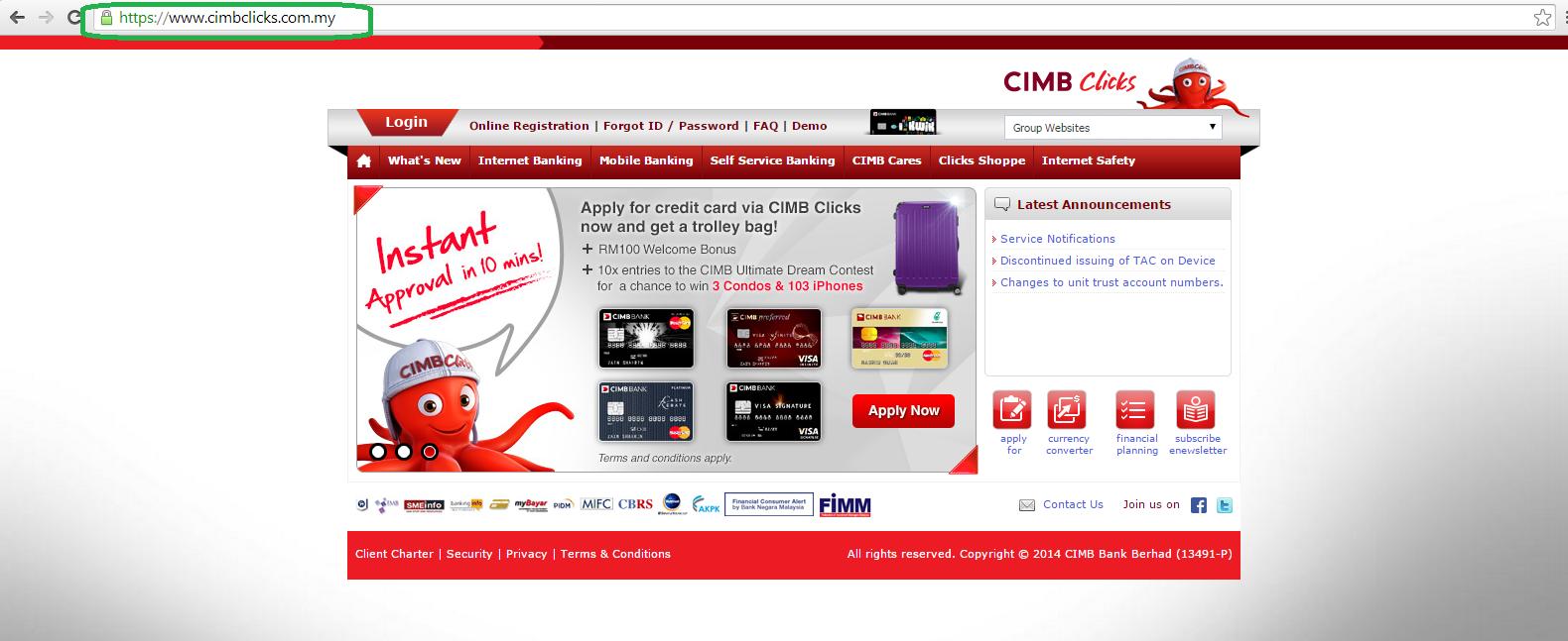 Cara transfer duit menggunakan CIMB clicks (CIMB ke CIMB)