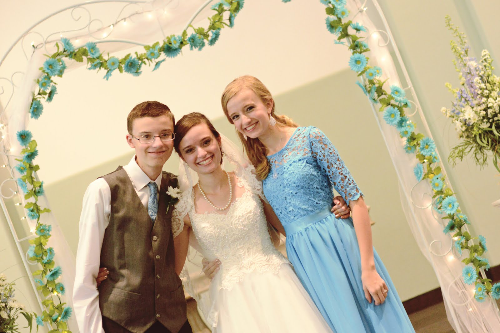 Molly, Noah and Lexi at Molly's wedding