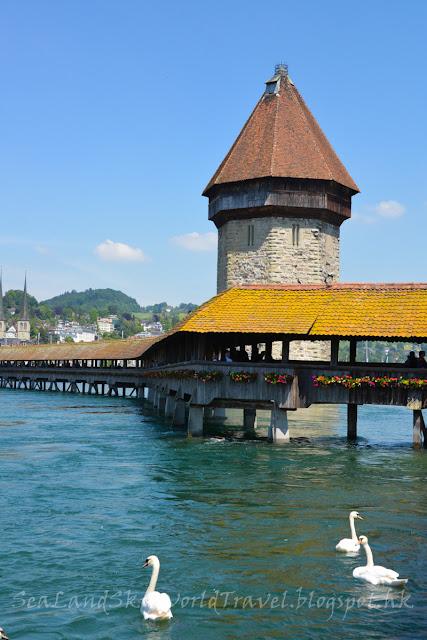 瑞士, 琉森, 花橋, Chapel Bridge