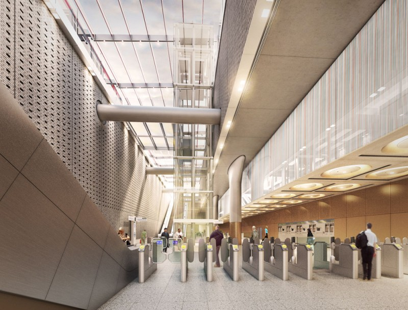 UK-Crossrail Paddington Station in London