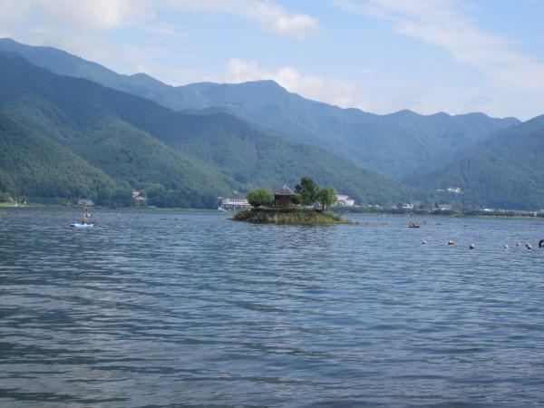 Kawaguchi-ko lake in Japan