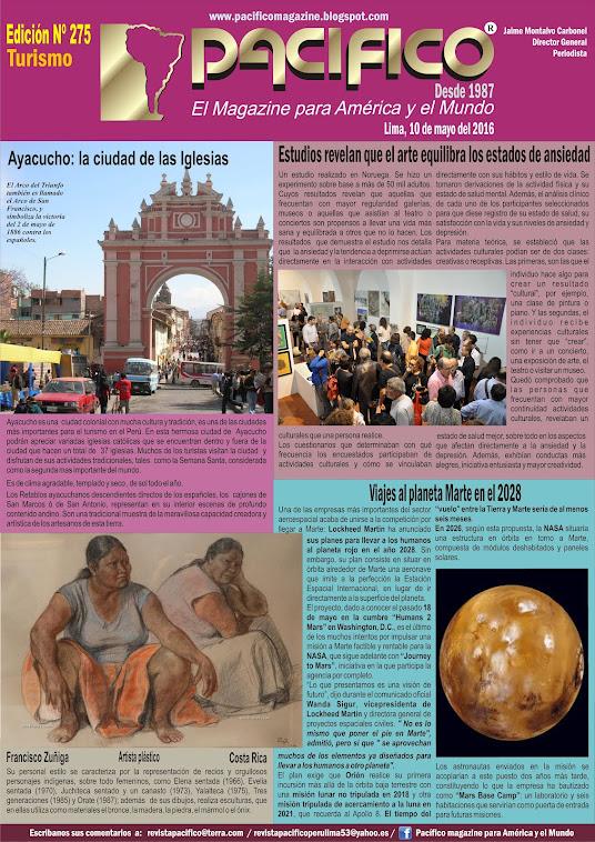 Revista Pacífico Nº 275 Turismo
