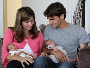 Roger Federer&#39;s Twins