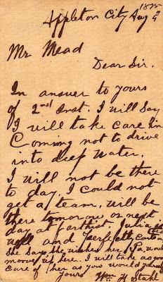 1875 post card