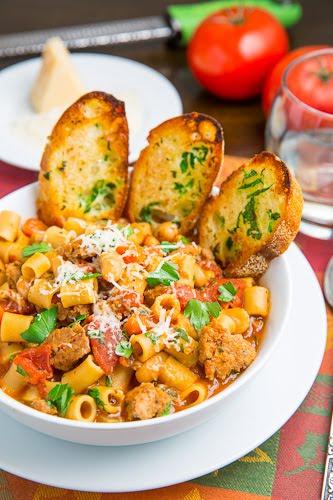 Italian pasta and beans recipe