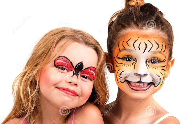 Ladybug face painting pictures