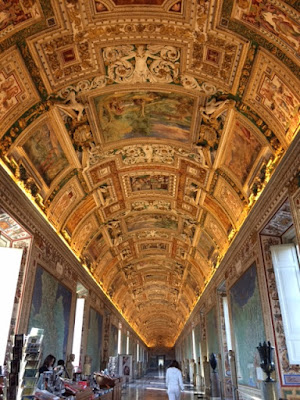 Ceiling in the Vatican Museum, Rome, Italy