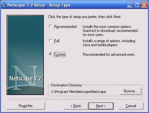 Netscape Custom Install