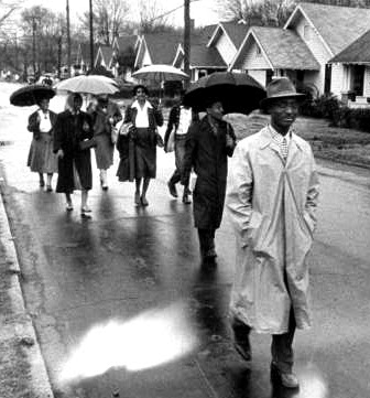 Montgomery Bus Boycott in the rain