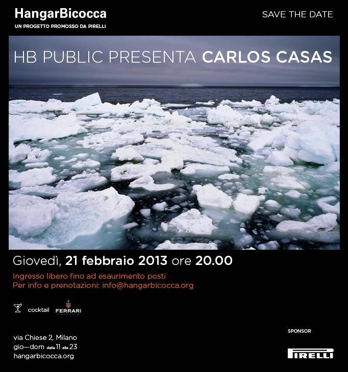 Carlos Casas a Milano: giovedì 21 e sabato 23 febbraio in Hangar Bicocca