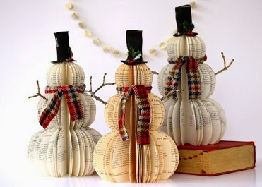 Snowmen made out of books