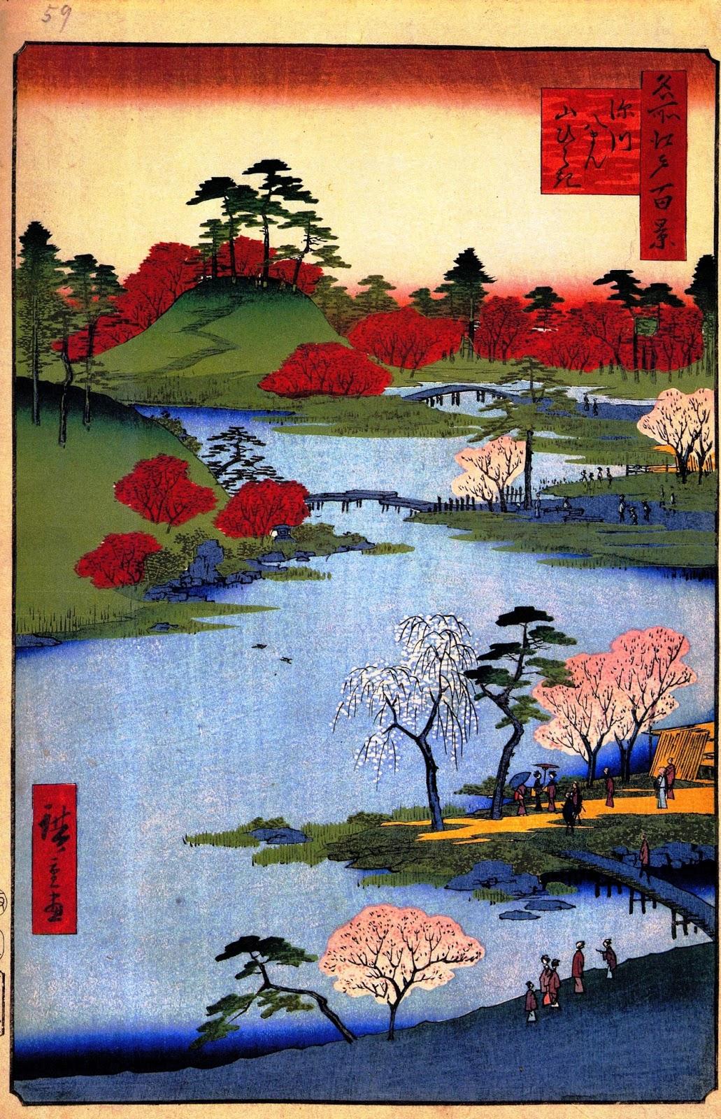 Doctor Ojiplatico. Utagawa Hiroshige. Cien famosas vistas de Edo (名所江戸百景 Meisho Edo Hyakkei. Verano. Summer