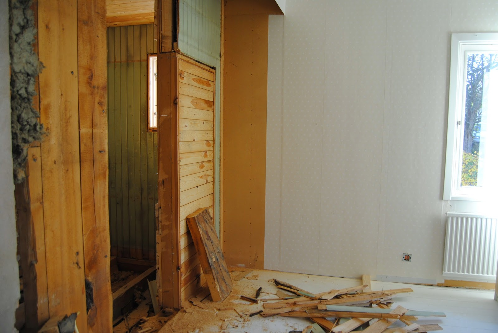 Mitt hus med trädgård: badrum före och efter