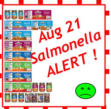 Over 30 Product codes in This Extended Salmonella Recall Warning KAwartha Lakes Mums!