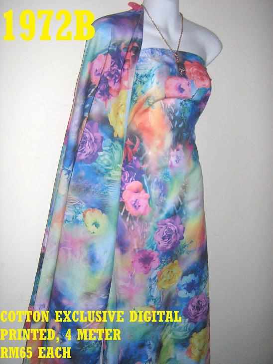 CDP 1972B: COTTON EXCLUSIVE DIGITAL PRINTED, 4 METER