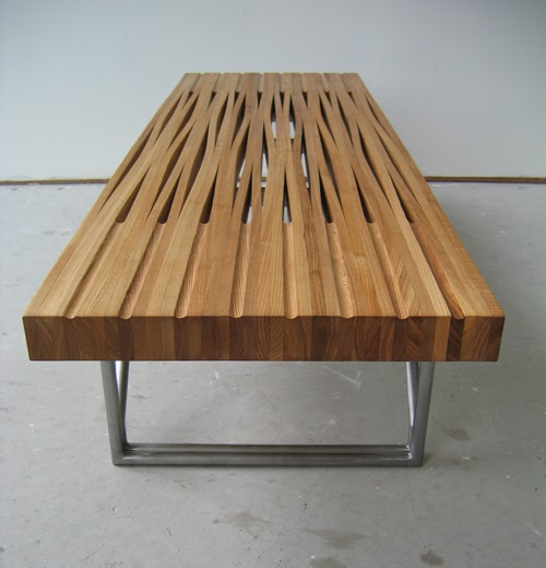 peppermags Furniture Bent Wood Table