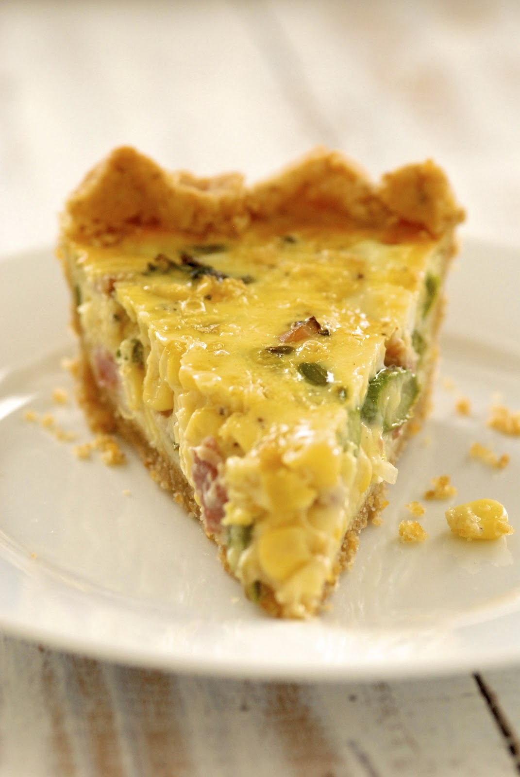 Ham And Asparagus Quiche - A Simple Savory Pie Recipes — Dishmaps