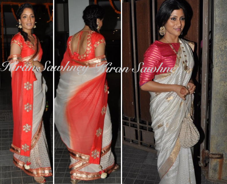 Sandhya Mridul and Konkana Sen Sharma at Soha & Kunal Wedding Reception