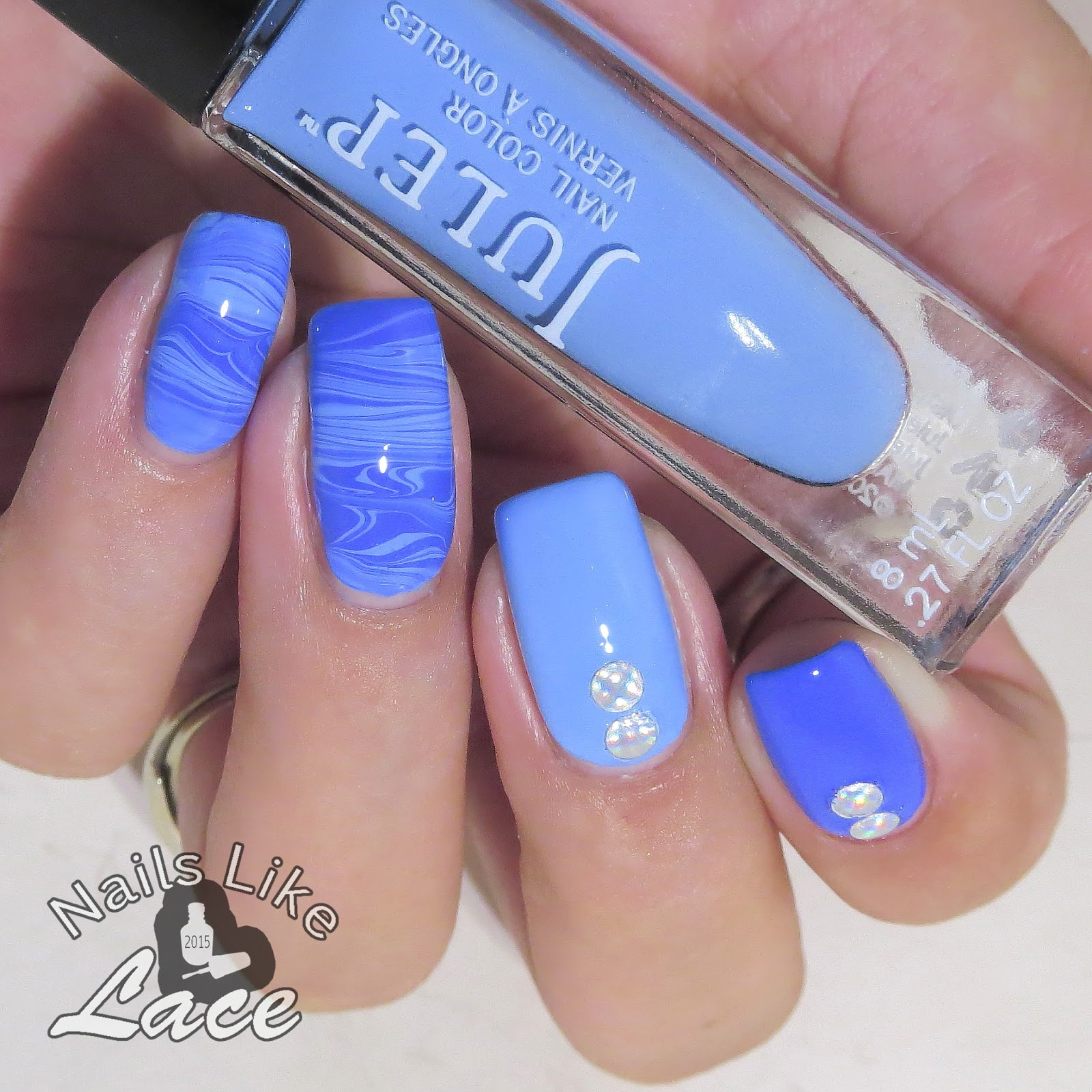 Marble Nail Polish Instructions: NailsLikeLace: Waves Of Blue: Polish Marbling Comb Review