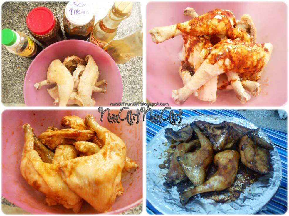 Bahan-bahan perap untuk ayam panggang madu: