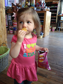 Savvy enjoys Prawn Crisps at The London Candy Company