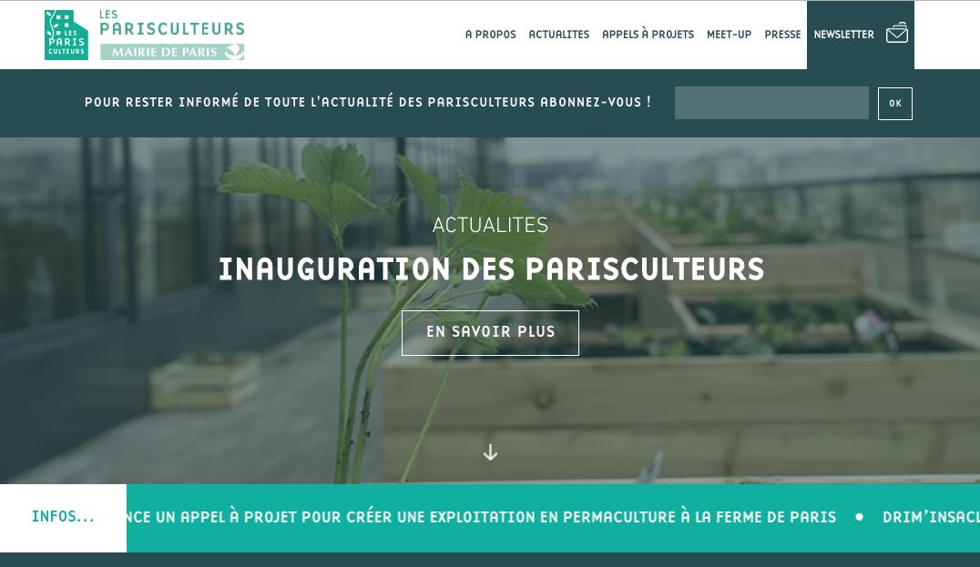 Newsletter des Parisculteurs élaborée par Cityside et Ultranoir