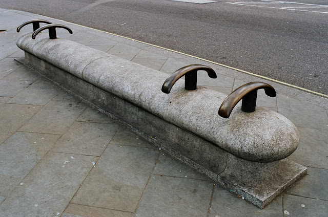 London bench Northumberland Avenue Embankment