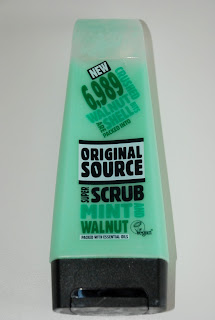 Mint and Walnut scrub od Original Source.