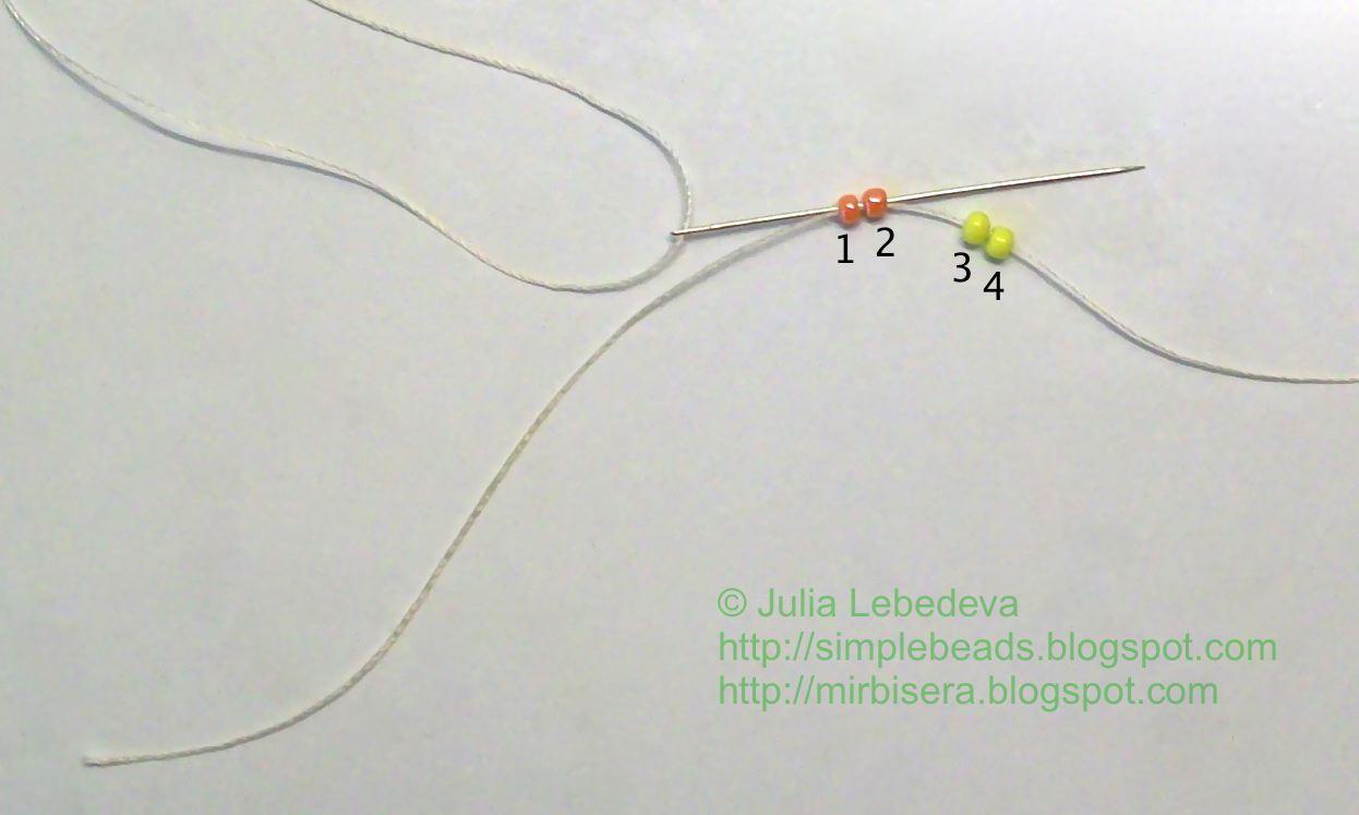 схема в рисунке плетения пасхального яйца из бисера