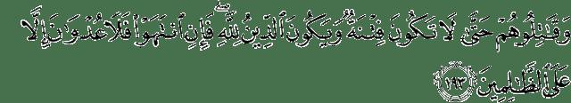 Ayat al baqarah 193