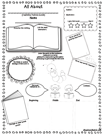 AUTHOR STUDY (WRITING A BOOK REPORT) - …