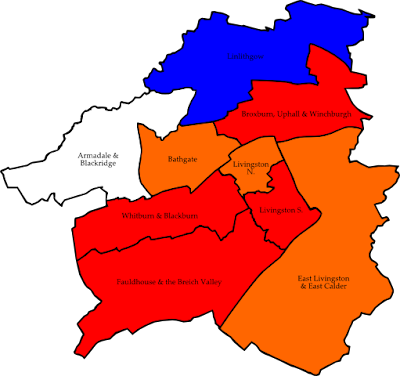Map of West Lothian Province Area