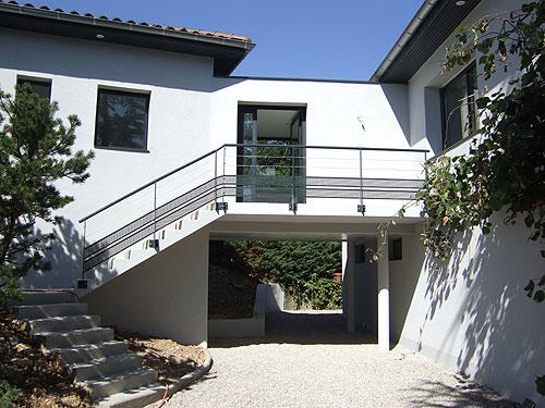 Villa contemporaine for Constructeur villa contemporaine