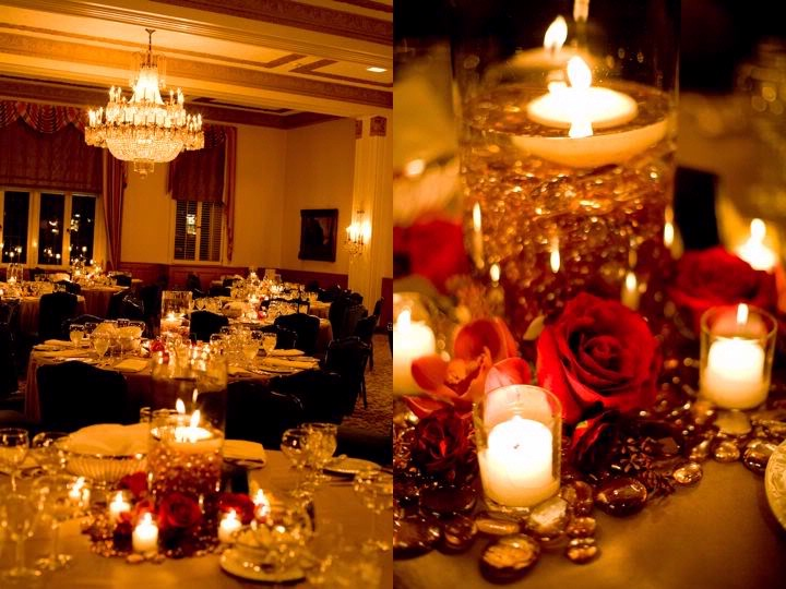Wedding decor candle centerpieces ideas