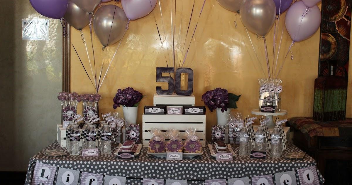 The Sugar Bee Bungalow Sarahs 50th Birthday Dessert Table